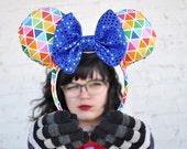 Rainbow Spaceship Earth Epcot Mickey Mouse Ears Minnie Mouse Ears