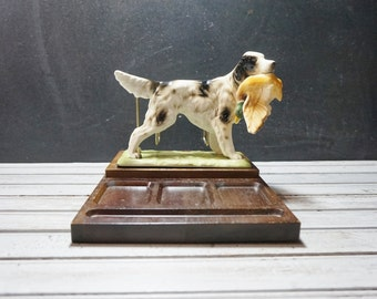 English Setter Wooden Desk Organizer
