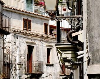Sicily Photography - Italy Photography - Mediterranean Decor - Sicilian Print - Italian Streets Windows Orange Car Rustic Travel Art