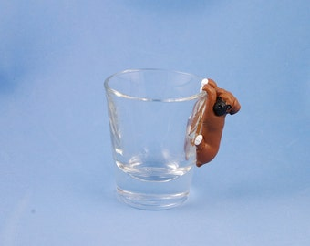 Hand Sculpted Boxer 1.5 oz Shotglass