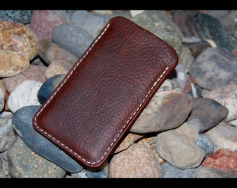 iPhone SE Case, Oil Tanned Leather iPhone 5 Sleeve, Leather iPhone SE Case, iPhone 5S, Oil Tanned Leather