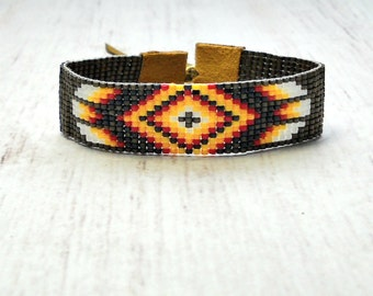 Tribal Boho Bracelet - Bohemian Jewelry - Beaded Bracelet - Mens Bracelet - Bohemian Bracelet - Holiday Gifts - Boho Jewelry