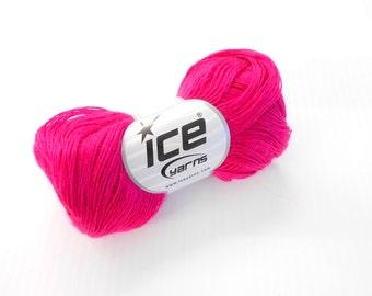 Ice Yarns Super Fine Illimani Yarn, Mohair Wool Acrylic Blend, 3 ply Knitting Yarn, Y190