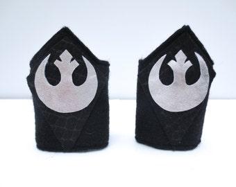 Star Wars Inspired Wrist Cuffs / Darth Vader Black and Silver / Arm Bands / Kids Superhero Costume Accessories