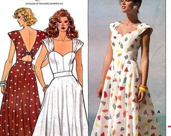Butterick 3848 by Rimini Vintage 80s Sewing Pattern for Misses' Dress - Uncut - Size 6, 8, 10