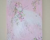 Whimsical Tutu Painting on 16 x 20 Canvas