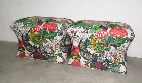 Curved Ottomans -Set of 2- Design Your OWN In Any Fabric