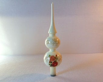Vintage Glass Tree Topper Ornament