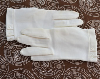 1960s White Fownes Gloves, Size 6 1/2