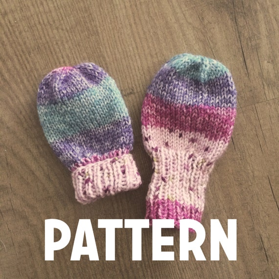 Basic Knitting Pattern For Baby Mittens : Basic Baby Thumbless Mittens Pattern