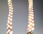 Vintage Haskell Hagler Hand Wired Pearl Necklace Bridal Wedding Jewelry