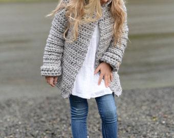 CROCHET PATTERN-The Verge Sweater (2, 3/4, 5/7, 8/10, 11/13, 14/16, S/M, L/XL sizes)