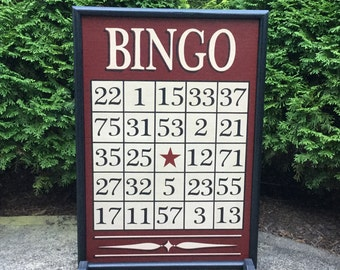 Bingo, Game Board, Wood, Game Boards, Wooden, Primitive, Folk Art, Board Game, Hand Painted