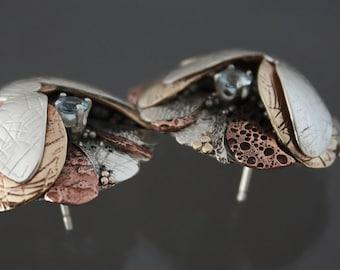 Multi Metal Earrings, large