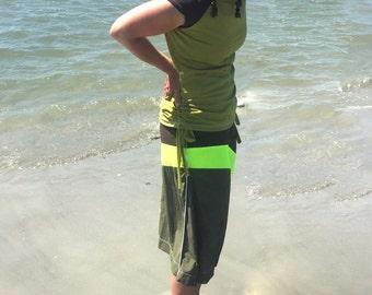 Side Tie Swim Shirt modest swim shirt withCap Sleeve ultra CHLORINE RESISTANT option