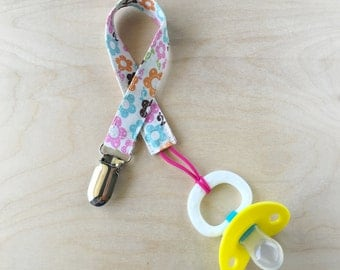 Pacifier Clip - Cheery Floral