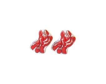 Bacon Earrings / Bacon Jewelry / Bacon Earring studs / Bacon Breakfast Jewelry Studs