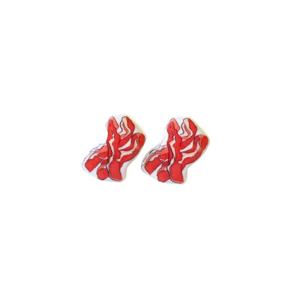 Bacon Earrings / Bacon Jewelry / Bacon Earring studs / Bacon Breakfast Jewelry Studs