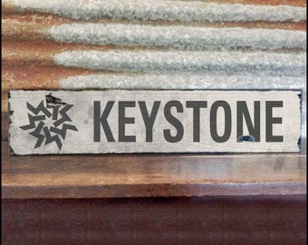 Keystone Ski Resort Sign, Handcrafted Rustic Wood Sign, Mountain Decor for Home and Cabin, 1106