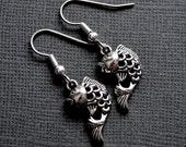 Silver Koi Fish . Earrings