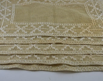 Vintage Cloth Placemats Set of 5