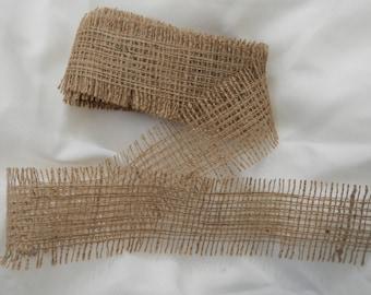 Burlap Ribbon, Jute Ribbon, 12 Feet Long, Wedding DIY Supplies, Mason Jar Wrap, Crafting Supplies