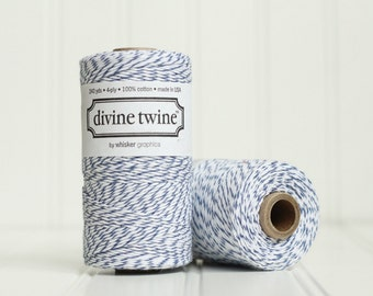 1 Spool (240 yds) of Navy Blue Baker's Twine - 4-ply, 100% Cotton, Gift Wrap, Packaging, Scrapbooking, etc.