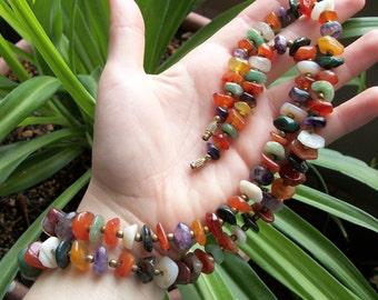 Semi Precious Stone Beaded Necklace
