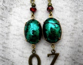 Wizard of Oz Earrings - OZ Jewelry - Oz Earrings,  Emerald Green Oz Earrings, Wicked Witch Earrings, Dorothy Oz Earrings