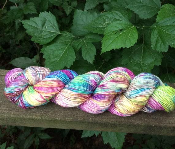 Speckled Sock Yarn, SW Merino/Nylon Hand Dyed Sock Yarn, Hand Dyed, Merino, Cashmere