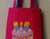 Shopkins Tote with Wishes Applique Design