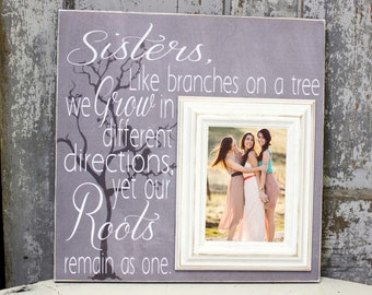Sisters wedding gift, Maid of Honor gift, Matron of Honor gift, Bridesmaid gift, Personalized Picture Frame 16x16
