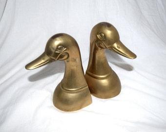 Whats Quackin' Doc? - Set of Two Brass Mallard Duck Bookends