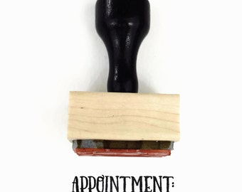Appointment Stamp - Planner Stamp for Your Planner Calendar - Appointment Stamp - Wood Mounted - Rubber Stamp by Creatiate
