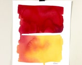 Color Field 8.  A signed original watercolor painting.