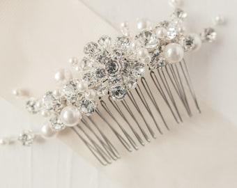 Pearl Bridal Comb, Wedding Comb, Pearl Comb, Bridal Accessories, Vintage Inspired Comb, Bridal Comb, Wedding Accessories, Vintage Comb