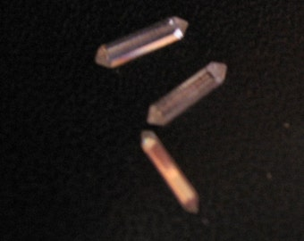 Vintage Double Point End Baguettes Crystal Clear Swarovski VERY RARE 8x2mm QTY - 2