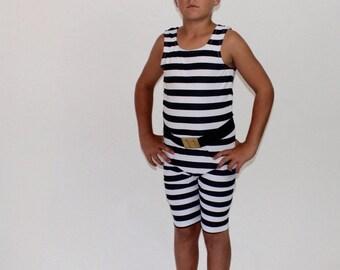 Strongman High Neck Costume for Tweens with Belt