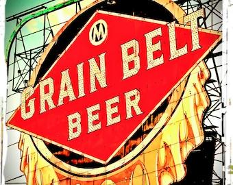 Grainbelt Beer Sign Minneapolis Landmark - photo Twin Cities