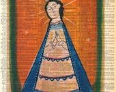 Santa Fe Santos / Ex Voto Retablo - Vintage Ephemera - Original Art  - Altered - Cathy DeLeRee
