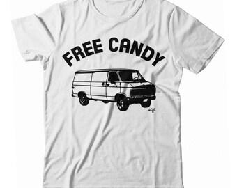 Free Candy Creeper Van UNISEX T-shirt