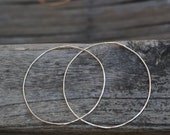 Large Sterling Silver Endless Hoops, Hammered Hoops, Boho Chic Jewelry,  Handcrafted Hoops by Jewel Garage