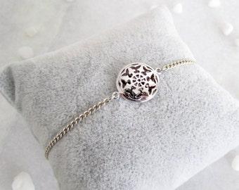 Silver Aztec Charm Bracelet - Friendship Bracelet, Boho Chic, Boho Jewellery, Silver Jewellery, Friendship Jewellery, Tribal Jewellery