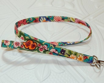 Lanyard - Fabric Lanyard - Teacher Lanyard  - Badge Holder -  Periwinkle Blue