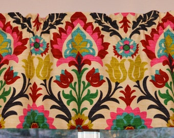 Custom Curtain and Kitchen Valance . Waverly Santa Maria Desert Flower . FULLY Lined . Beautiful Handmade by SeamsOriginal