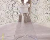 Vintage Clear Glass Liquor Decanter