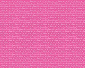 Lovebugs Pink Text, Doodlebug Design, Cynthia Sandoval, Riley Blake Designs, 100% Cotton Fabric, C5054-PINK