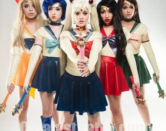 Latex Sailor Moon and Scouts Complete Outfit