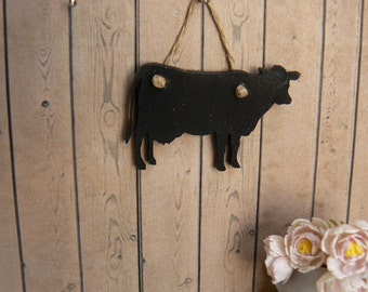 RESERVED FOR A----Cow Chalkboard for kitchen - Miniatiure Dollhouse - 01:12 Scale