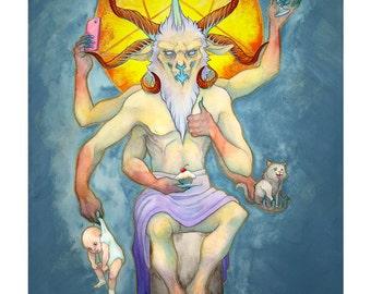 Dark Fantasy Illustration 'Feed Your Demons' - 11x14 inch print
